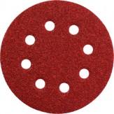 METABO Листы шлифовальные на липучке, зерно 40, диам. 125 мм, 5 шт.