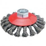ATORN Щетка чашечная d 100 мм, M14, скрученная стальная проволока 0,5 мм