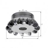 ATORN Головка фрезерная торцовая HPC 45°, d 32,00 мм, Z=3