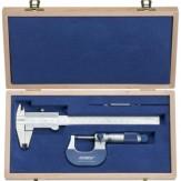 ATORN Комплект измерительных инструментов, из 2 предметов, в деревянном футляре