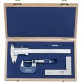 ATORN Комплект измерительных инструментов, из 3 предметов, в деревянном футляре