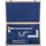 ATORN Комплект измерительных инструментов, из 6 предметов, в деревянном футляре