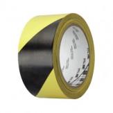 3M Лента клейкая многоцелевая мягкая 766i, из ПВХ, черная/желтая, 50 мм x 50 м