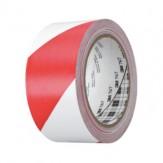 3M Лента клейкая многоцелевая мягкая 766i, из ПВХ, красная/белая, 50 мм x 50 м