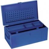 Ящик для инстр. из нерж. стали, 830x440x340 мм, RAL 5002, ультрамариново-синий