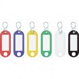 Брелоки для ключей, 10 штук, красного цвета