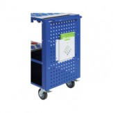 WTS Стенка из перфорированного листа для модульной тележки WTS, RAL 5010 синий
