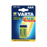VARTA Акк. RECHARGEABLE POWER micro 1,2 В 800 мАч никель-метал гидрид, уп. 2 шт.