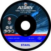 ATORN Диск зачистной для обработки цветных металлов, 125 x 7,0 x 22,2 мм