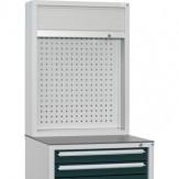 HK Шкаф с перф. панелью и жалюзи разм.: ВхШхГ 955 x 722 x 230 мм, RAL 7035