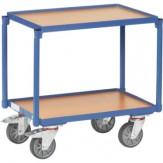 Стол на колесах, 2 уровня с кромкой, 2 погр. площ. 610x410 мм, 250 кг