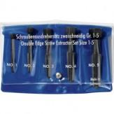 RENNSTEIG Экстракторы винтов, 2 реж. кромки, разм. М 5 - М 20 (наб. из 5 шт.)