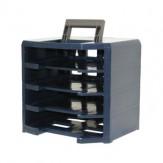 RAACO Ящик переносн., пустой, ДxШxВ 347x305x324 мм, синий/серый для 4 асс.ящиков