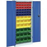 HK Шкаф стеллажн.с двер., мод. 2 с ящиками для открытого хранения, RAL 7035/5010