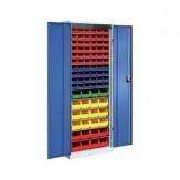 HK Шкаф стеллажн.с двер., мод. 3 с ящиками для открытого хранения, RAL 7035/5010