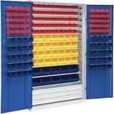 HK Шкаф стеллажн.с двер., мод. 4 с ящиками для открытого хранения, RAL 7035/5010