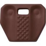 Наколенники полиуретановые, эргономичная верхняя часть, бордовый