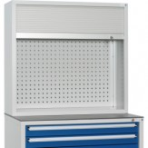 HK Шкаф с перф. панелью и жалюзи разм.: ВхШхГ 955x1022x360 мм, RAL 7035