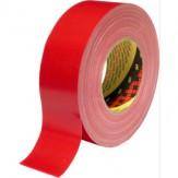 3M Лента клейкая тканевая премиум-класса 389, красная, 50 мм x 50 м