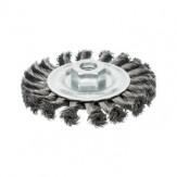 ATORN Щетка чашечная d 115 мм, M14, скрученная стальная проволока 0,5 мм