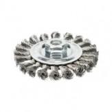 ATORN Щетка чашечная d 115 мм, M14, скрученная стальная проволока V2A 0,5 мм
