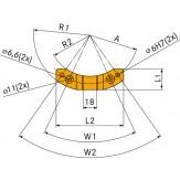 Блок стопорный для A = 65 мм