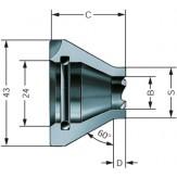 RdHM Патрон поводковый, прав.,  ход 9 - 16 мм, диапазон обточки