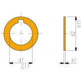 ORION Кольца регулируемые для фрезерных оправок 13 x 0,03 мм форма A DIN 2084