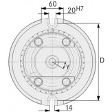 ATORN Плита поворотная для арт. 28 832 092
