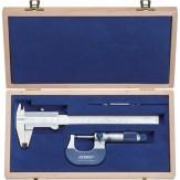 ATORN Набор измерительных инструментов из 2 шт. (арт.31003010 + арт.31342005), в деревянном футляре