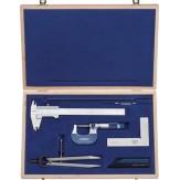 ATORN Набор измерительных инструментов из 6 шт., в деревянном футляре