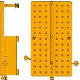 Пластина опорная для прибора QUICKCHECK ШxГ 270 x 150 мм с опорной стойкой