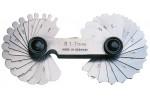 ORION Шаблоны радиусные из стали, марка INOX R 7,5 - 15 мм (наб. из 16 пластин)