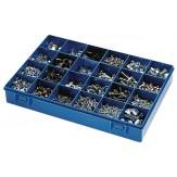 Ящик сортировочный без ручки, с прозрачной крышкой, модель 24, синий
