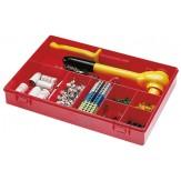 Ящик сортировочный с ручкой, с прозрачной крышкой, модель 8, красный