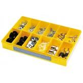 Ящик сортировочный без ручки, с прозрачной крышкой, модель 12, желтый