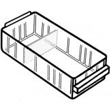 RAACO Ящик выдвижной, прозрачный 41х67х153 мм, без перегородок, тип 150-01