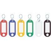 Брелки для ключей (наб. из 10 шт.), цвет красный