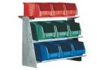 HK Стенд настольный из листовой стали, Модель 3 с ящиками для открытого хранения