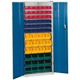 HK Шкаф стеллажный с дверцами, Модель 2 с ящиками для открытого хранения RAL 7035 / 5010