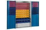 HK Шкаф стеллажный с дверцами, Модель 4 с ящиками для открытого хранения