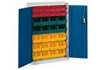 HK Шкаф стеллажный с дверцами, Модель 1 с ящиками для открытого хранения