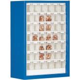 Шкаф магазинный с 42 прозрачными контейнерами ВxШxГ 910x665x250 мм