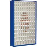 Шкаф магазинный с 154 прозрачными контейнерами ВxШxГ 2000x1270x250 мм