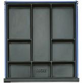 ANKE Вставки для выдвижного ящика с выемками, пластик 508 x 540 x 48 мм серия BL, V и VS