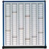 ANKE Вставки для выдвижного ящика с выемками, пластик 500 x 540 х 90 мм, серия S BL H 6 лотков