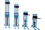 Погрузчик высокоподъемный, грузоподъемность 1000 кг, диапазон подъема 90 - 1200 мм, цвет RAL 5012 голубой