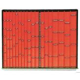 HK Вкладки для выдвижных ящиков к инструментальным шкафам 800 В, ячейки от 40 мм