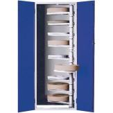 HK Шкаф с распашными дверцами для хранения шлифовальных кругов с 9 поворотными рукавами на кронштейне, 400x125 мм, RAL 7035 / RAL 5010