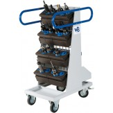 WTS Тележка модульная односторонняя, ШхГхВ 480х700х1140 мм, ручка цвет RAL 5010 синий